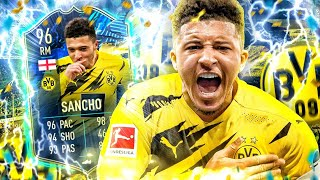 FIFA 21 : 96 JADON SANCHO TOTS Squad Builder Battle 😱🔥