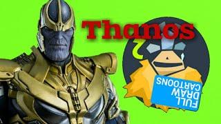 Thanos рисуем Танос в Рисуем мультфильмы 2