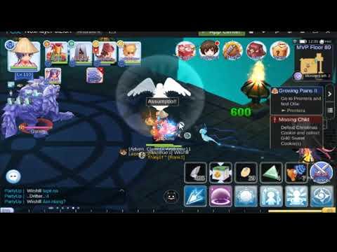 Ragnarok Mobile: Warlock 1 hit garm floor 80