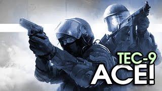TEC-9 ACE! - OVERPASS COMPETITIVE GAME | CS:GO Mini Montage. #2