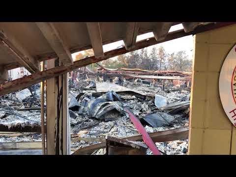 Cardinal Newman Catholic School in Santa Rosa after Fire