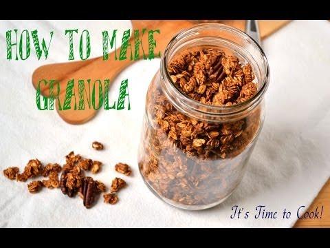 ✿ Healthy Granola (muesli) Recipe | Homemade Chocolate Chip granola | It's Time to Cook!
