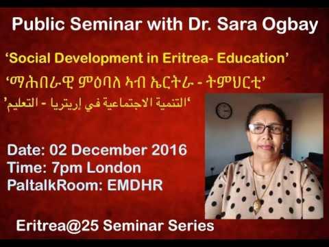 Dr. Sara Ogbay Seminar Part - 2