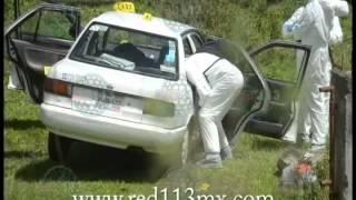 PÁTZCUARO Hallan taxi de la línea EP abandonado y con manchas de sangre, en Huecorio