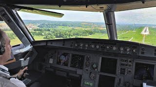 Cobalt Air Airbus A319 Cockpit Landing at Zurich | Cockpit View & ATC Audio