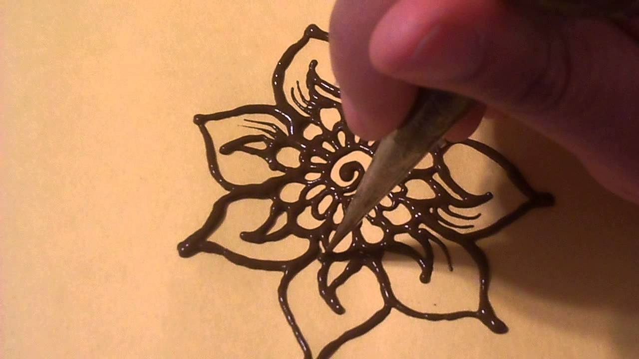 henna tutorial quick floral paisley design youtube