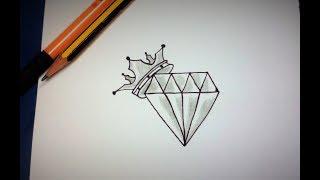 como desenhar um Diamante tumblr