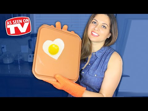 GOTHAM STEEL COPPER PAN GRILL & GRIDDLE REVIEW | TESTING AS SEEN ON TV PRODUCTS | VIVIAN TRIES