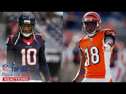 Take Your Pick: DeAndre Hopkins or A.J. Green & Russell Wilson or Carson Palmer | Top 100 Reaction