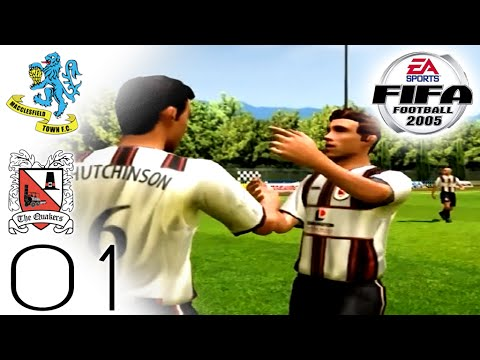 FIFA 2005 Career Mode - Darlington - Macclesfield (H) - Part 01