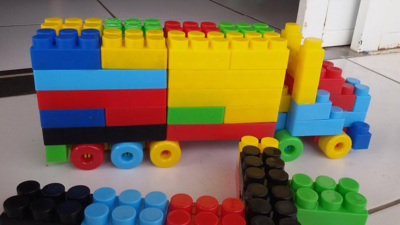 Caminhão De Brinquedo Monta Monta Pecinhas Como Fazer Um Caminhão