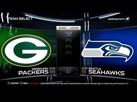 MADDEN NFL 15 PS4 Full Gameplay: Packers vs Seahawks  Week 1 NFL Regular Season Matchup Simulation