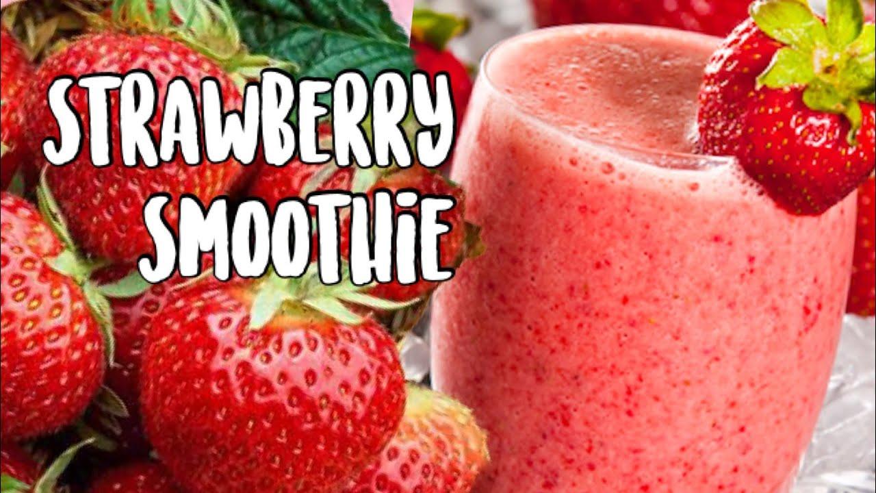 how to make strawberry bannana smoothie
