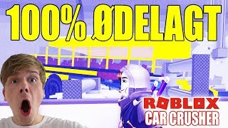 100% TOTAL DESTROYED!! (SCHOOL BUS?!) -CAR CRUSHER 2-ENGLISH ROBLOX-[#4]