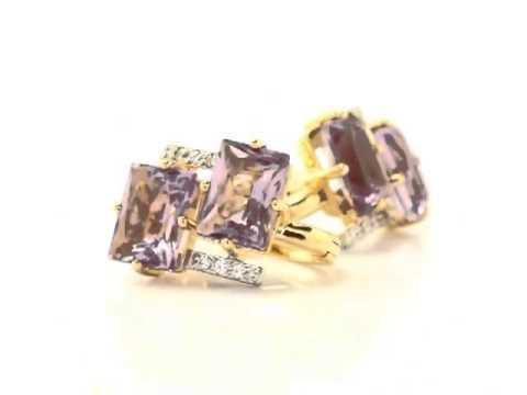 Золотые серьги с аметистом  ТС7711АМ