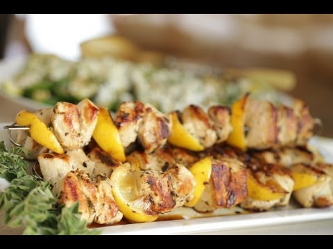 Beth's Chicken Brochette & Grilled Zucchini