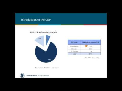 17.7.13 Recorded Webinar: Communication on Progress for Business Participants