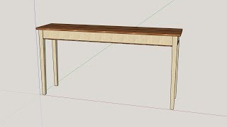 SketchUp - Sofa Table With Hidden Storage