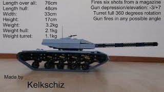 Six shot autoloader LEGO tank project