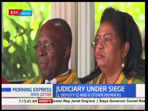 Chief Justice David Maraga and his deputy Philomena Mwilu are once again facing removal threats
