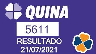 Resultado da Quina de hoje - Resultado da Quina 5611 de hoje 21/07/2021