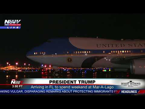 PRESIDENT HOLIDAY: President Trump arrives in FL to spend MLK Day weekend at Mar-A-Lago (FNN)