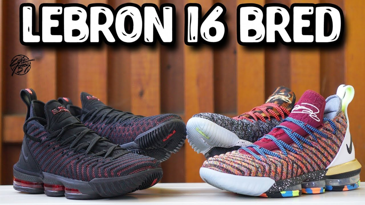 101b44e859966d Nike Lebron 16 BRED Detailed Look + Comparison with the