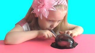 Черный покупной слайм. Обзор покупного слайма. Пузыри из лизунов. Слизь. Slime. Видео для детей.