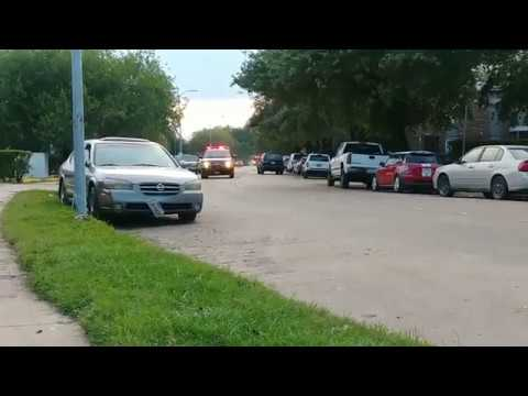 Houston Fire Department: District 70 & District 26 Leaving Scene With Siren Lights Usage & Wave