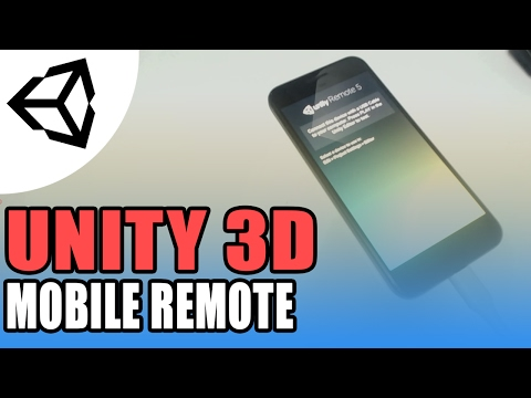 Unity Remote - Mobile To Editor - Unity 3D [Tutorial]