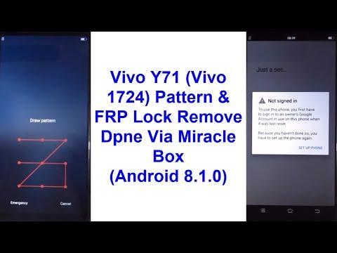 Vivo Y71 (Vivo 1724) Pattern, Password & FRP Lock Remove