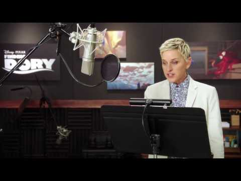 "Finding Dory: Ellen Degeneres ""Dory"" Behind the Scenes Voice Acting"