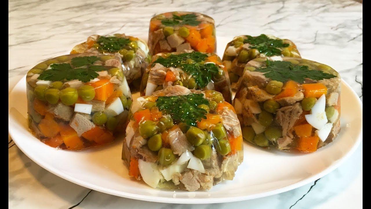 Заливное с Мясом / Jellied Meat Recipe / Закуска на Новый Год / Холодная Закуска