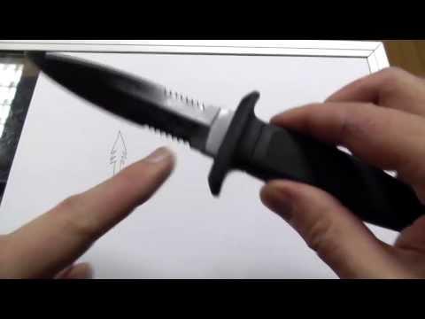 Mtech rubber handled dagger: Fixed blade for under $10