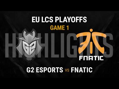G2 Esports vs Fnatic Highlights Game 1 - Semi-final EU LCS Playoffs 2016 - G2 vs FNC G1