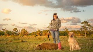hunting with handguns shooting hogs with 44 magnum