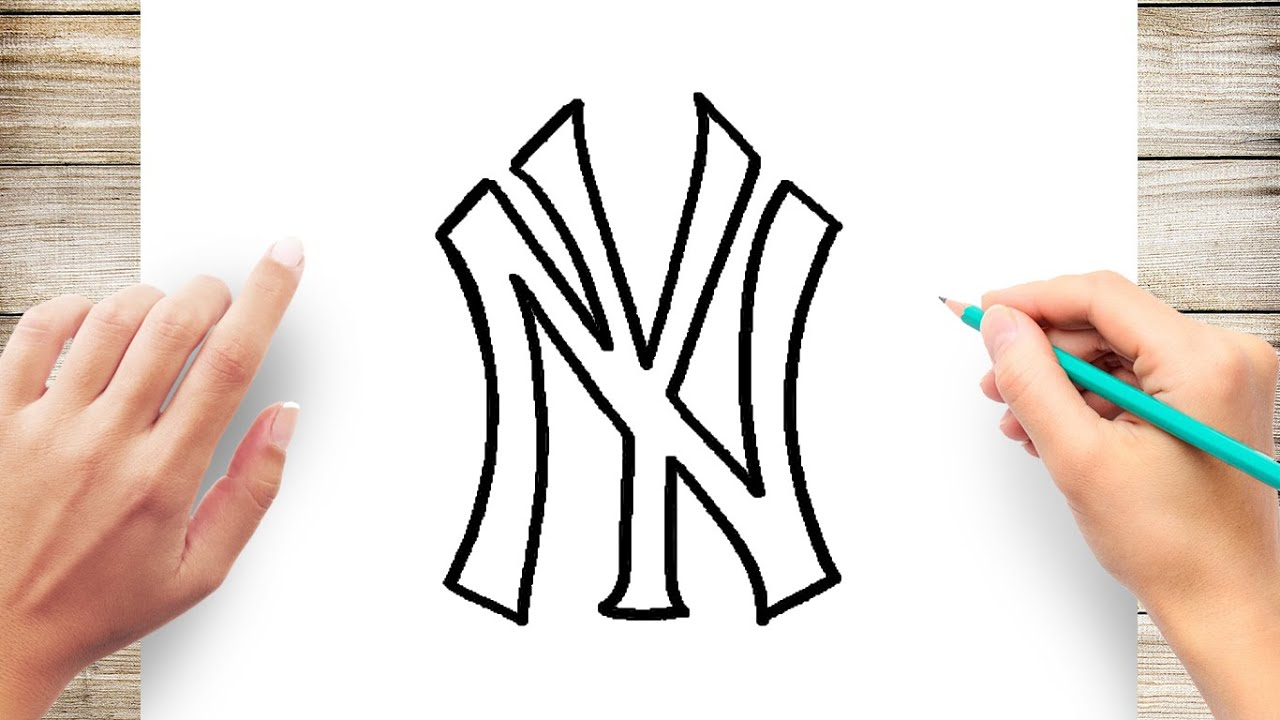 How To Draw Yankees Logo Step by Step