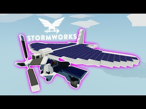 Solar Powered Plane Attempt  -   Stormworks: Build and Rescue  -  1