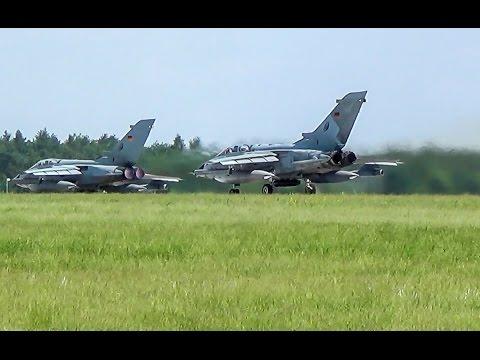 [ILA 2016] 2x Panavia Tornado IDS POWERFUL takeoff in Berlin-Schönefeld! (FULL HD!)
