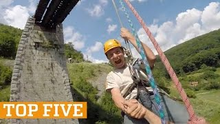 TOP FIVE: Rope Swing, Ice Climbing & Skiing | PEOPLE ARE AWESOME 2017