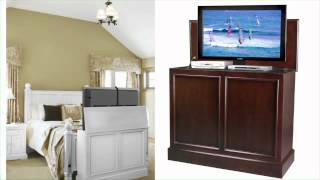 Carousel Espresso End Of Bed Tv Lift Cabinet