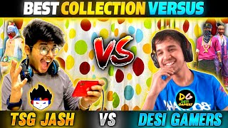 Jash Vs Amit Bhai Best Collection Versus In Free Fire || Face To Face Battle - Two Side Gamers