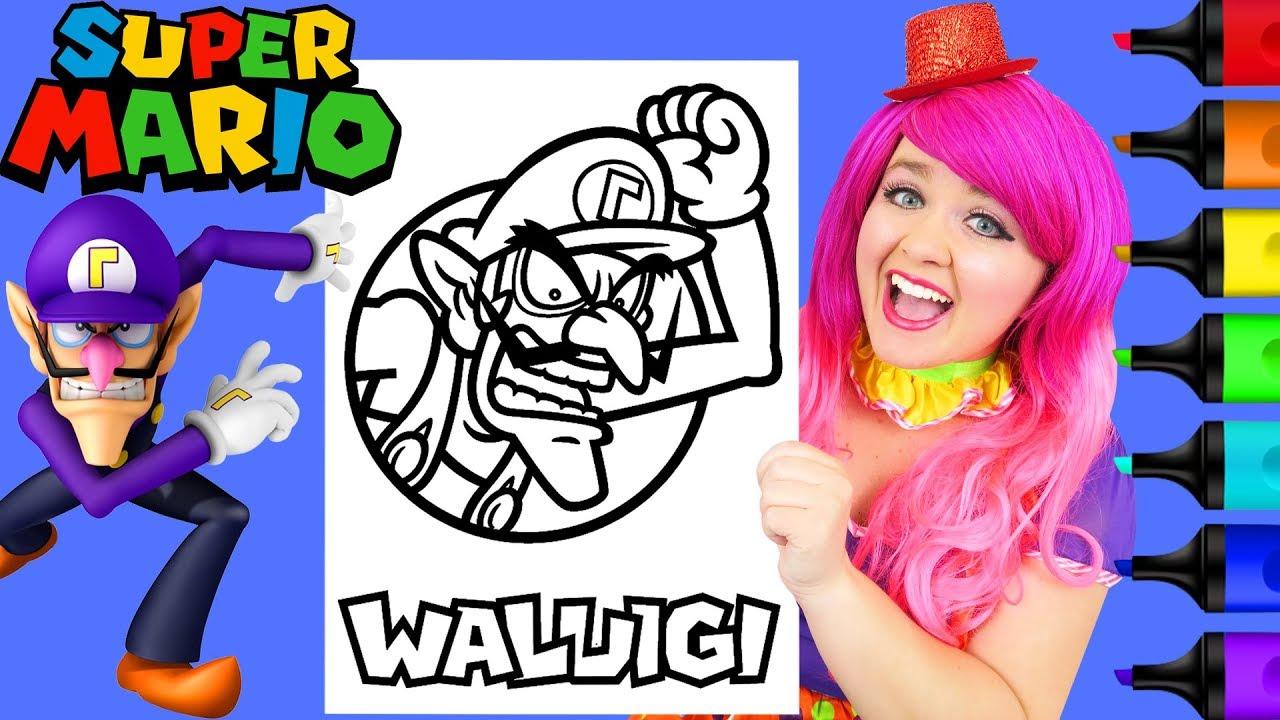 Coloring Waluigi Super Mario Nintendo Coloring Page