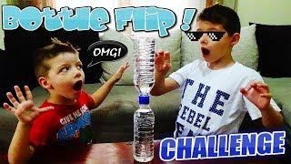 Bottle Flip Challenge Πετάμε Μπουκάλια στον αέρα ! Διασκέδαση παιχνίδια για παιδιά greek
