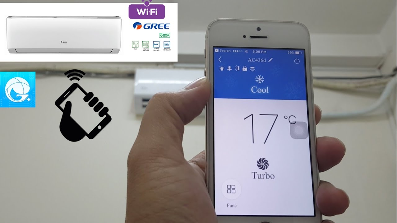 How to Connect WiFi to Air-Conditioner Gree With Control By Smartphone  (Part 1)
