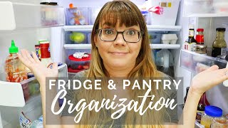 CLEAN OUT Fridge & Pantry // Cleaning Motivation //Cleaning mom