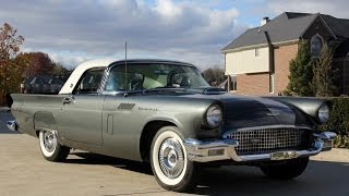 1957 Ford Thunderbird Test Drive Classic Muscle Car for Sale in MI Vanguard Motor Sales