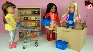 Video Barbie Supermarket Grocery Store with AG Dolls Shopping Cart Play Toys Video download MP3, 3GP, MP4, WEBM, AVI, FLV Agustus 2017