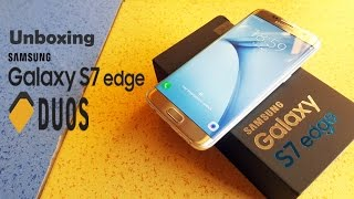 Unboxing the Samsung Galaxy S7 Edge DUOS in Titan Silver
