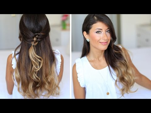 French Knot Half-Do Hairstyle